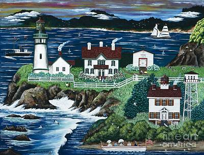Painting - Yaquina Lighthouse by Jennifer Lake