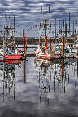 Photograph - Yaquina Marina by Wes and Dotty Weber
