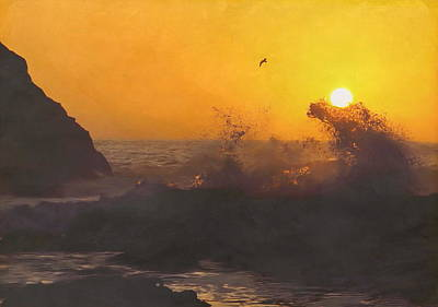 Photograph - Yaquina Sunset by Angie Vogel