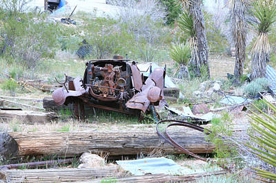Rusted Cars Photograph - Yard  Art  by Gilbert Artiaga