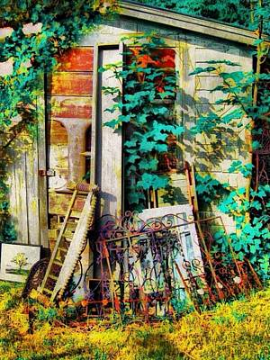 Yard Sale Digital Art - Yard Sale Antiques - Vertical by Lyn Voytershark
