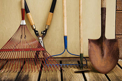 Photograph - Yard Tools by Melinda Fawver