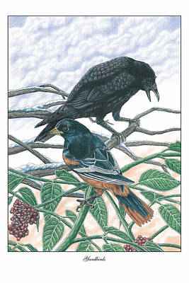 Oriole Drawing - Yardbirds by Jonathan W Brown