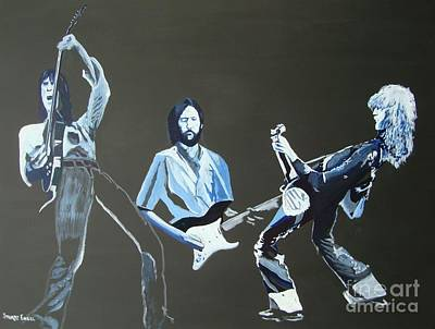 Zep Painting - Yardbirds by Stuart Engel