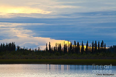 Photograph - Yarger Lake Sunset by Chris Heitstuman