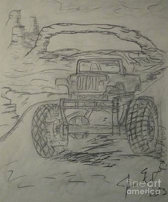 Jeep Drawing - Yarman Dreamer by James Eye