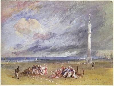 Harbor Drawing - Yarmouth Sands by Joseph Mallord William Turner