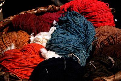 Photograph - Yarn Colors - Sturbridge Village by Jacqueline M Lewis