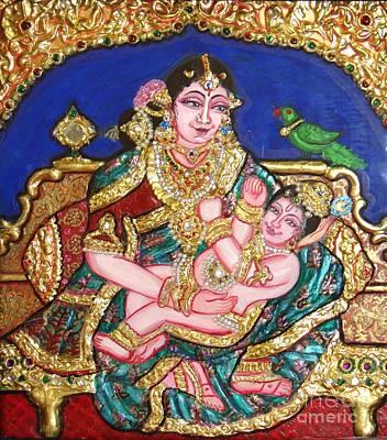 Painting - Yashoda Holding Gopala by Jayashree