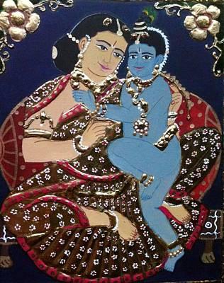 Yashodhakrishna Print by Priya A