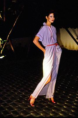 Photograph - Yasmine Sokal Wearing Geoffrey Beene by Arthur Elgort