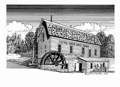 Yates Cider Mill Print by J W Kelly