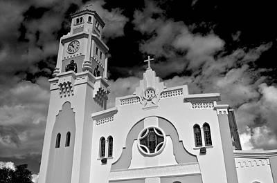 Photograph - Yauco Church B W 1 by Ricardo J Ruiz de Porras