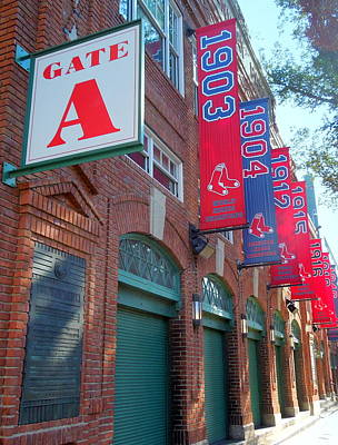 Photograph - Yawkey Way And Banners by Caroline Stella