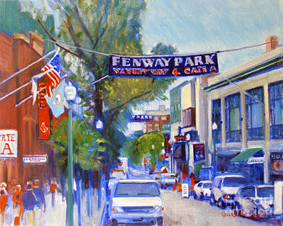 Bleachers Painting - Yawkey Way by Candace Lovely
