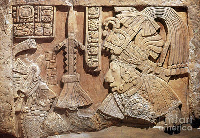 Low Relief Photograph - Yaxun Balam Iv, Mayan King, 755 Ad by Science Source