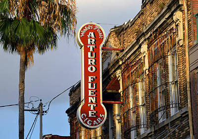 Photograph - Ybor City Cigar Sign Color Work One by David Lee Thompson