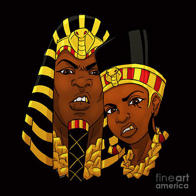 Afrocentric Digital Art - Ye' Are God's  by Respect the Queen