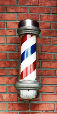 Ye Modern Barber's Pole Art Print by Lea Adkisson