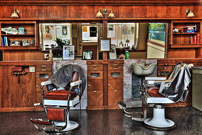 Photograph - Ye Old Barber Shop by James Eddy
