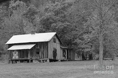 Photograph - Ye Old Cabin In Black And White by Jennifer E Doll
