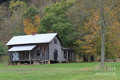 Photograph - Ye Old Cabin In The Fall by Jennifer E Doll