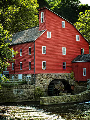 Photograph - Ye Old Red Mill by Wayne Gill