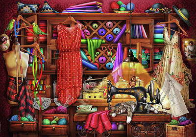 Drawing - Ye Olde Craft Room by Ciro Marchetti