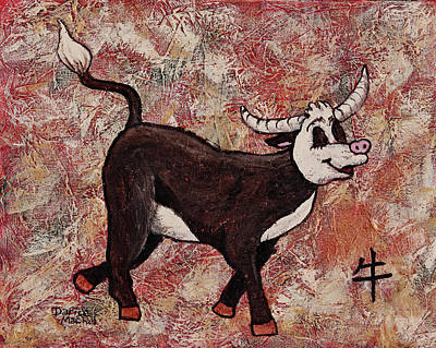 Zodiac Painting - Year Of The Ox by Darice Machel McGuire