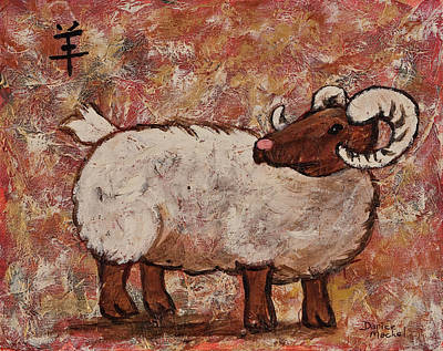 Zodiac Painting - Year Of The Ram  by Darice Machel McGuire