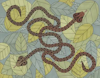 Year Of The Snake Drawing - Year Of The Snake by Pamela Schiermeyer