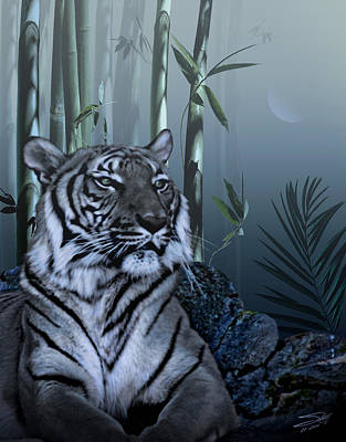 Asian Tiger Digital Art - Year Of The Tiger by IM Spadecaller