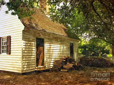 Painting - Yee Olde Wood Cottage by Shari Nees