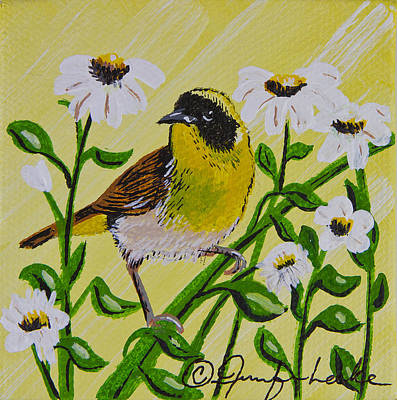 Painting - Yellow Bird Miniature by Jennifer Lake