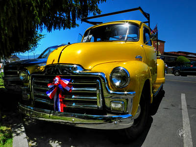 Photograph - Yellow '54 Gmc Pickup by Lance Vaughn