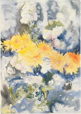 Yellow And Blue Art Print by Charles Demuth