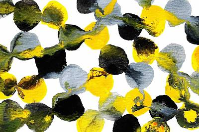 Painting - Yellow And Gray Interactions 6 by Amy Vangsgard
