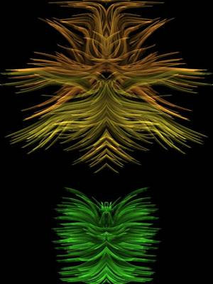 Digital Art - Yellow And Green by Kruti Shah