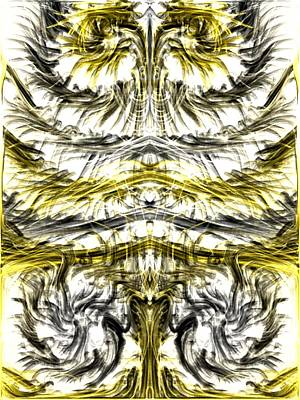 Digital Art - Yellow And Grey by Kruti Shah