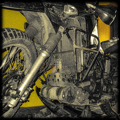 Photograph - Yellow And Metal by Tyler Lucas