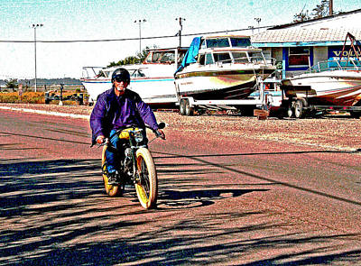 Photograph - Yellow And Purple Whiz Rider by Joseph Coulombe