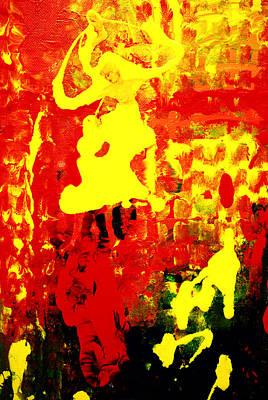 Fanciful Mixed Media - Yellow And Red by Patricia Motley