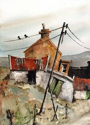 Painting - Vertical Yellow Hammers by Val Byrne