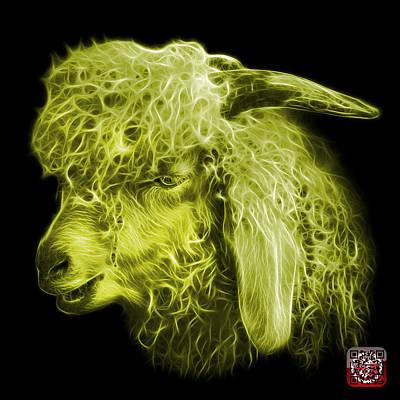 Digital Art - Yellow Angora Goat - 0073 F by James Ahn