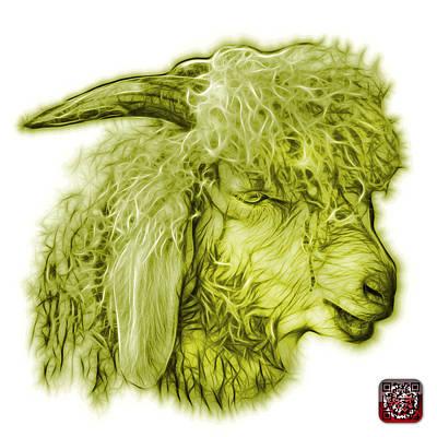 Digital Art - Yellow Angora Goat - 0073 Fs by James Ahn