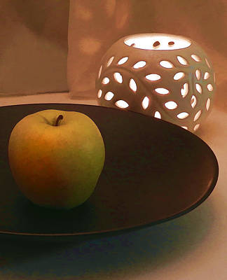 Photograph - Yellow Apple by Grace Dillon