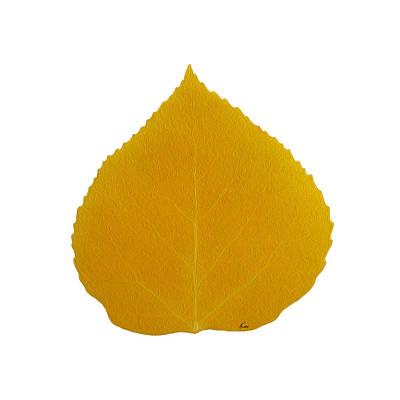 Digital Art - Yellow Aspen Leaf 4 by Agustin Goba