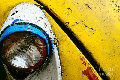 Photograph - Yellow Auto Rickshaw by Dean Harte