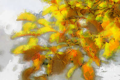 Photograph - Yellow Autumn by Jutta Maria Pusl
