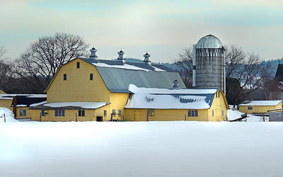 Photograph - Yellow Barn In Bradford Vermont by Nancy Griswold